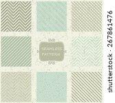set of 8 geometric seamless... | Shutterstock .eps vector #267861476