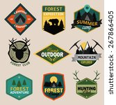 adventure  outdoors  camping... | Shutterstock .eps vector #267866405
