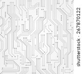 circuit board. seamless... | Shutterstock .eps vector #267870122