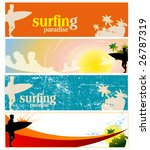 set of surfing banners | Shutterstock .eps vector #26787319