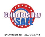 columbus day sale graphic banner | Shutterstock .eps vector #267892745