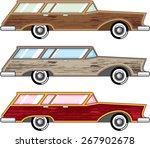 wood trim station wagon vector   Shutterstock .eps vector #267902678