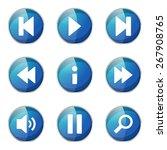 multimedia controller blue... | Shutterstock .eps vector #267908765