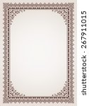 decorative border frame... | Shutterstock .eps vector #267911015
