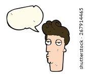 Cartoon Bored Man