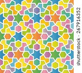 colorful geometric pattern in... | Shutterstock .eps vector #267916352