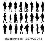 big set of black silhouettes of ... | Shutterstock . vector #267923075