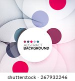 colorful circles modern... | Shutterstock .eps vector #267932246