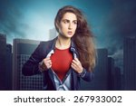 superhero woman | Shutterstock . vector #267933002