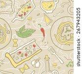 seamless vector background... | Shutterstock .eps vector #267943205