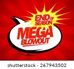mega blowout sale design in pop ... | Shutterstock .eps vector #267943502