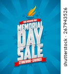 banner for memorial day sale ... | Shutterstock .eps vector #267943526