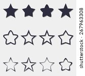 set of icons on a theme stars | Shutterstock .eps vector #267963308