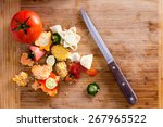 organic wastes from veggies and ... | Shutterstock . vector #267965522