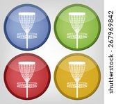 Set Of Disc Golf Icons   Sport...