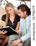 elegant business team studying...   Shutterstock . vector #26798179