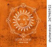vector geometric alchemy symbol ... | Shutterstock .eps vector #267985922