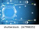 digital technology innovation... | Shutterstock .eps vector #267988352