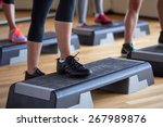fitness  sport  people  step... | Shutterstock . vector #267989876