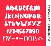 hand written alphabet with... | Shutterstock .eps vector #267992618