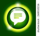 flat speech bubble icon.