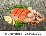 protein  diet  salmon. | Shutterstock . vector #268021322