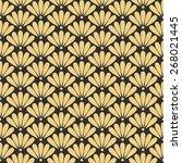 seamless antique palette... | Shutterstock .eps vector #268021445