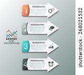 modern infographics options... | Shutterstock .eps vector #268021532