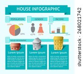 vector of house info graphic... | Shutterstock .eps vector #268021742