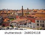 venice cityscape from above.... | Shutterstock . vector #268024118