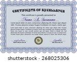 certificate   diploma of... | Shutterstock .eps vector #268025306