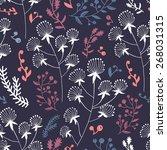 seamless floral pattern | Shutterstock .eps vector #268031315