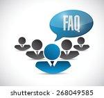 faq help team sign illustration ...   Shutterstock .eps vector #268049585