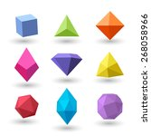 set of polygonal geometrical... | Shutterstock .eps vector #268058966
