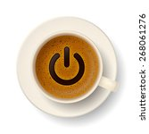 coffee cup with froth in from... | Shutterstock .eps vector #268061276