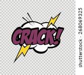 isolated comic speech bubble on ... | Shutterstock .eps vector #268069325