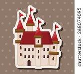 castle theme elements | Shutterstock .eps vector #268074095