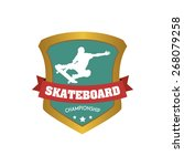 isolated sport icon with text... | Shutterstock .eps vector #268079258
