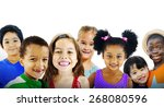 children kids diversity... | Shutterstock . vector #268080596