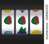 slot machine threesome... | Shutterstock .eps vector #268082435