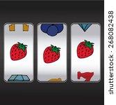slot machine  threesome... | Shutterstock .eps vector #268082438