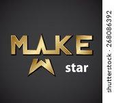 vector make golden star... | Shutterstock .eps vector #268086392