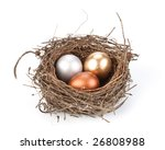 Gold  Silver And Bronze Eggs I...