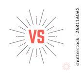 vintage versus emblem like...   Shutterstock .eps vector #268116062