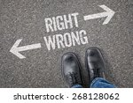 decision at a crossroad   right ... | Shutterstock . vector #268128062