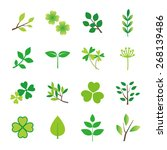 nature icon set | Shutterstock .eps vector #268139486