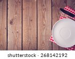 Wooden Background With Plate...