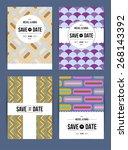 vector card set templates.... | Shutterstock .eps vector #268143392
