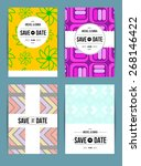 vector card set templates.... | Shutterstock .eps vector #268146422