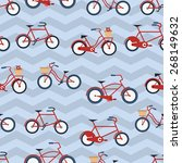 flat cute bicycles seamless... | Shutterstock .eps vector #268149632